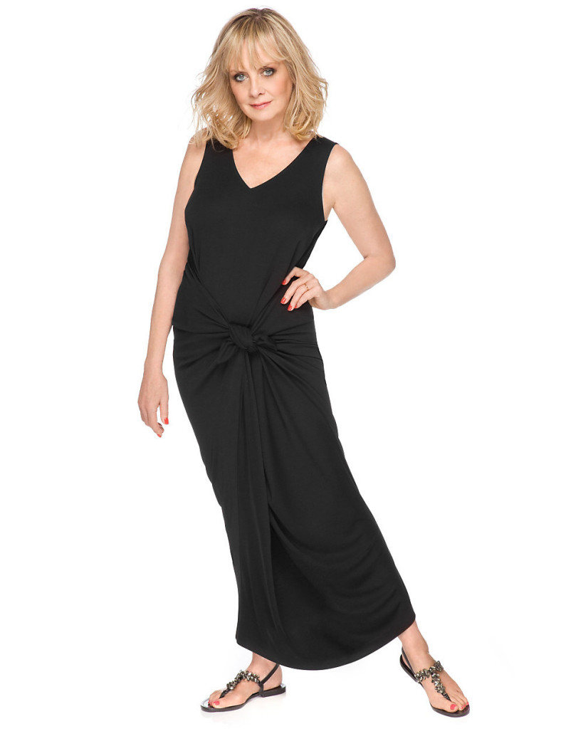 """""""Inspired by a visit to St Tropez, this multi-way maxi is my perfect holiday dress. It can be tied in a variety of ways so you can dress it up or down – and it doesn't crease, which is useful for packing!"""""""